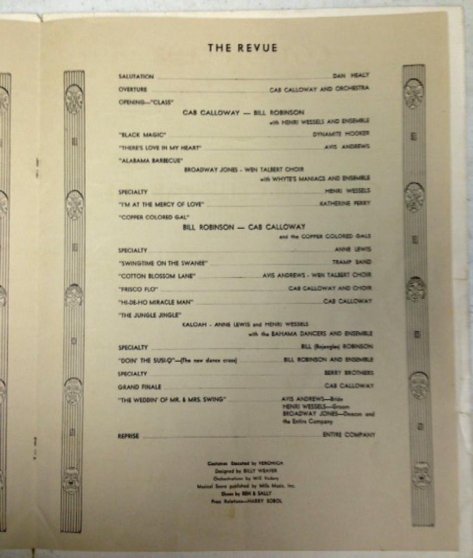 COTTON CLUB MENU - SIGNED BY CAB CALLOWAY - 8