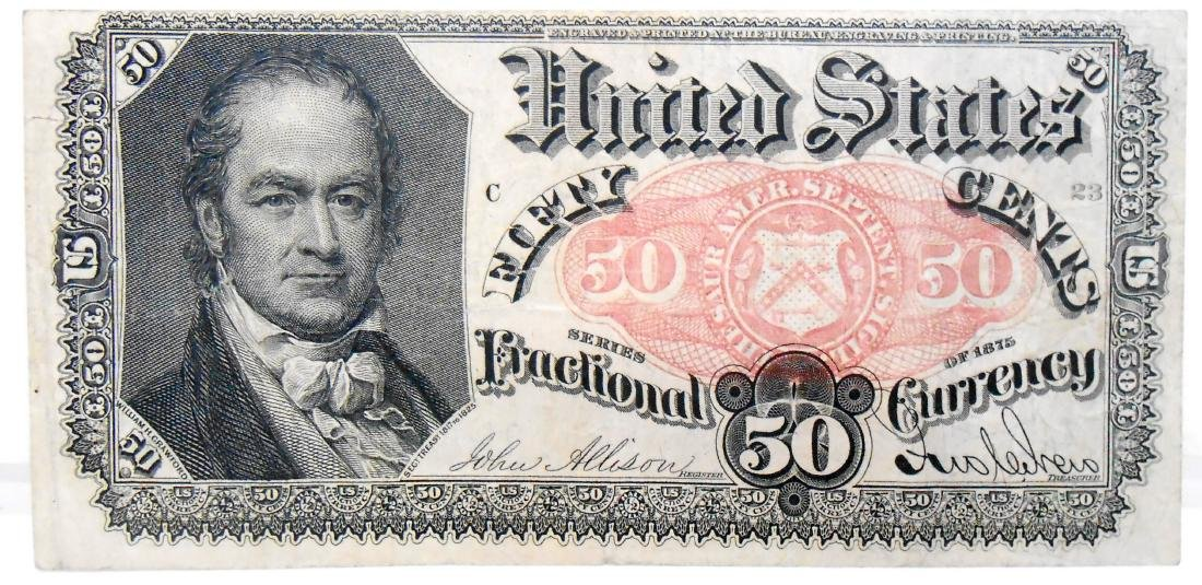 FIFTY CENT FRACTIONAL CURRENCY NOTE