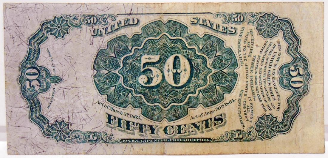 FIFTY CENT FRACTIONAL CURRENCY NOTE - 2