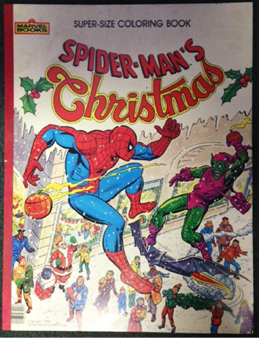 1984 MARVEL COMICS / SPIDERMAN CHRISTMAS COLORING BOOK