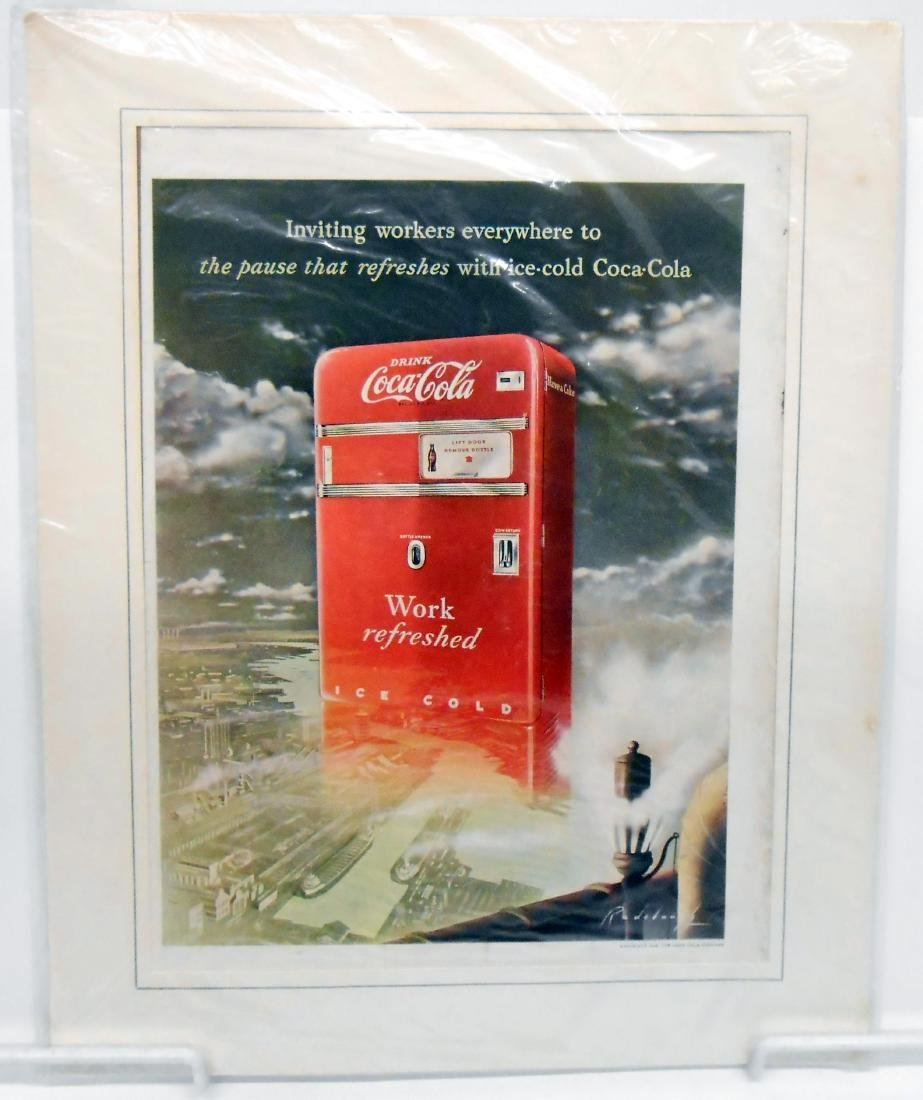 1940'S-50'S COCA-COLA COOLER EPHEMERA & NEWSLETTERS
