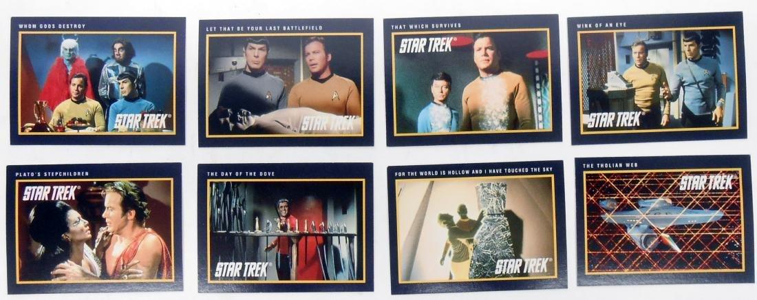 FULL SET OF CLASSIC STAR TREK SERIES COLLECTORS CARDS - 6