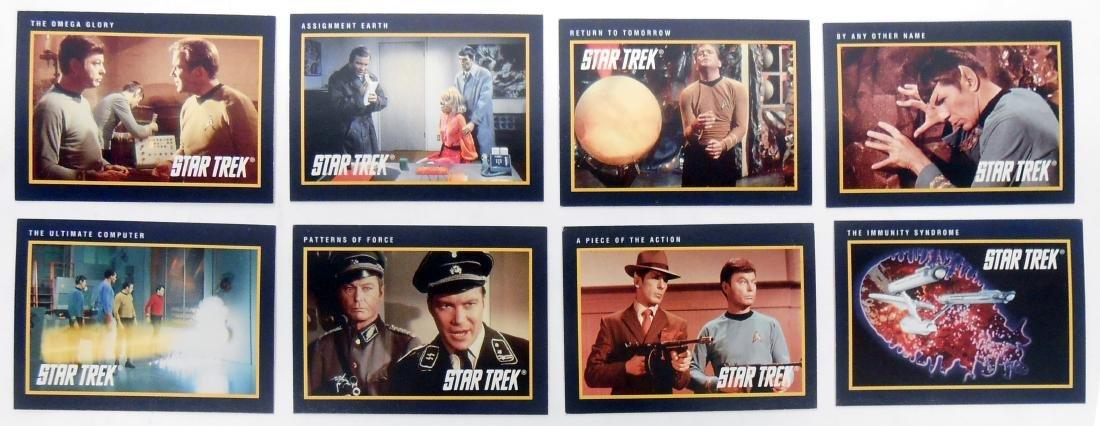 FULL SET OF CLASSIC STAR TREK SERIES COLLECTORS CARDS - 8