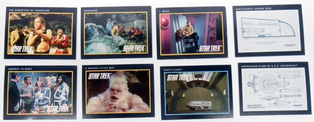 FULL SET OF CLASSIC STAR TREK SERIES COLLECTORS CARDS - 9
