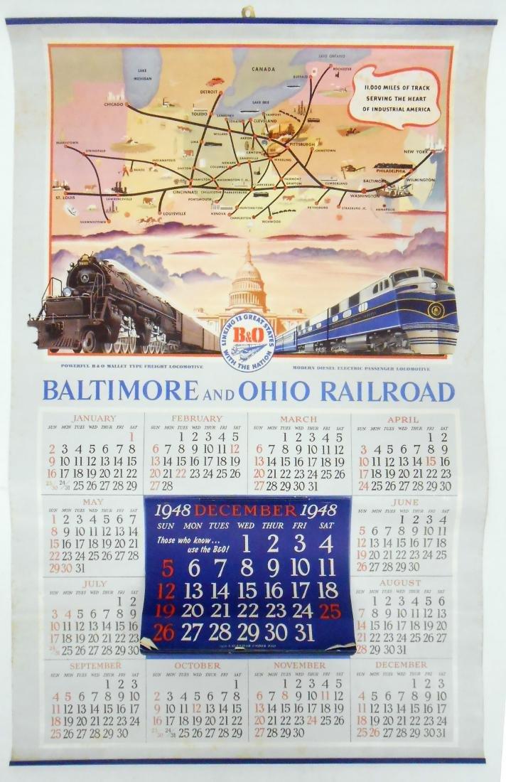 1948-49 BALTIMORE & OHIO RAILROAD CALENDAR