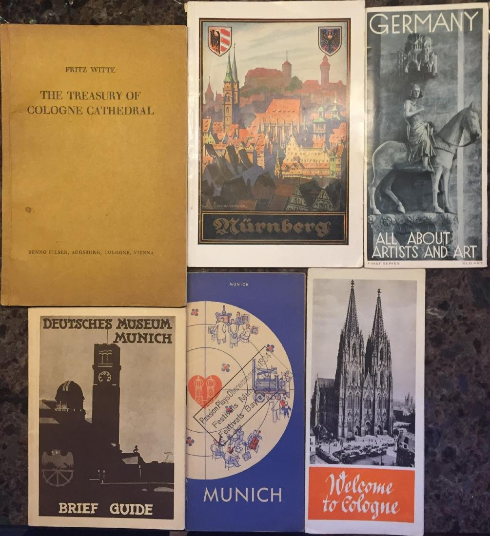 GERMAN TRAVEL BROCHURES & EPHEMERA CIRCA 1934