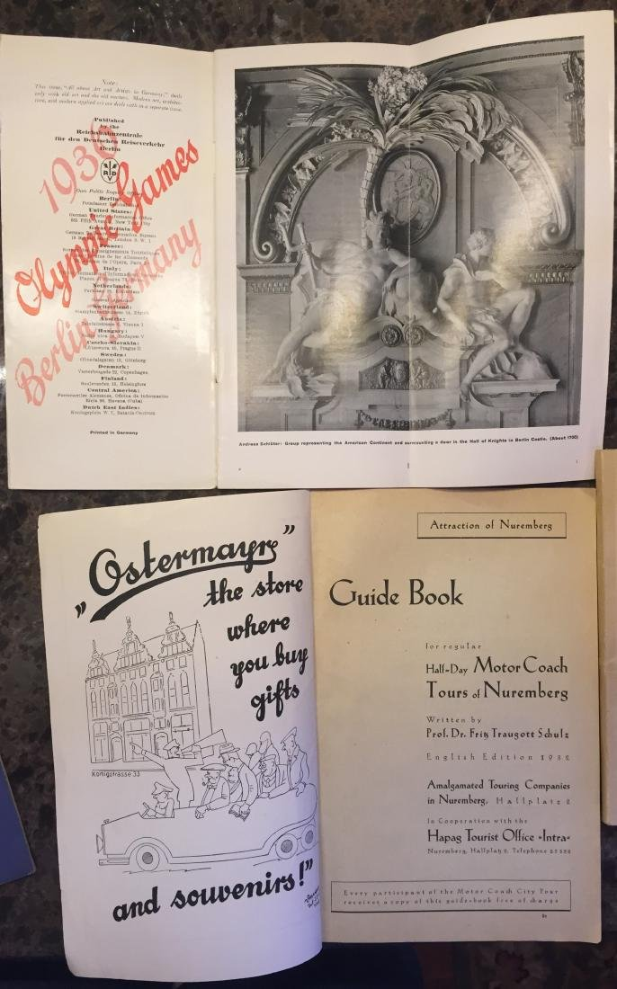 GERMAN TRAVEL BROCHURES & EPHEMERA CIRCA 1934 - 2