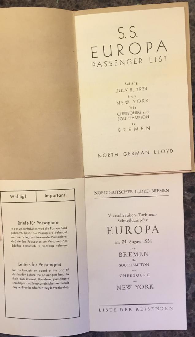 GERMAN TRAVEL BROCHURES & EPHEMERA CIRCA 1934 - 4