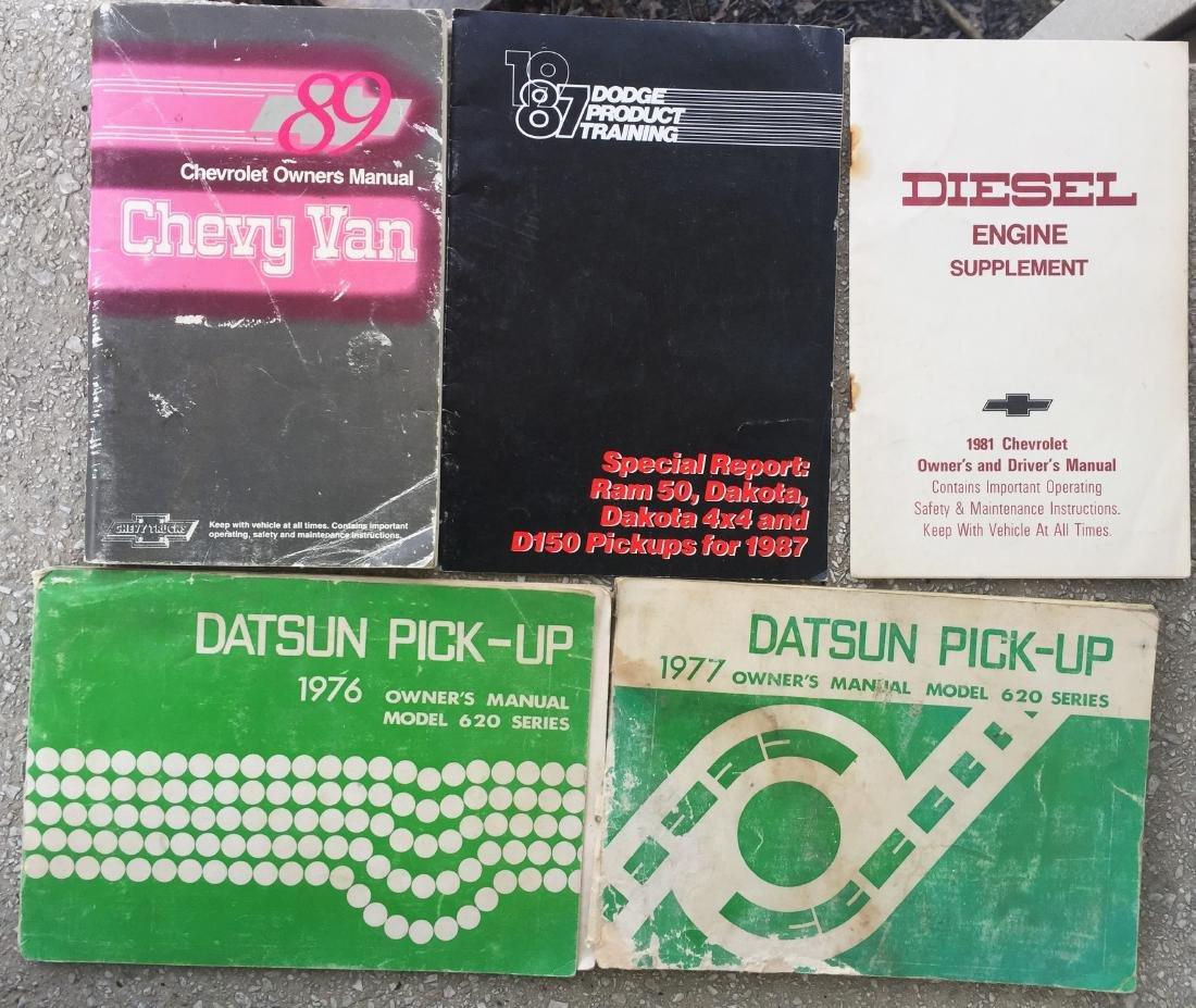 LOT OF 1980'S CAR MANUALS:  SUBARU, HONDA, TOYOTA, ETC - 2
