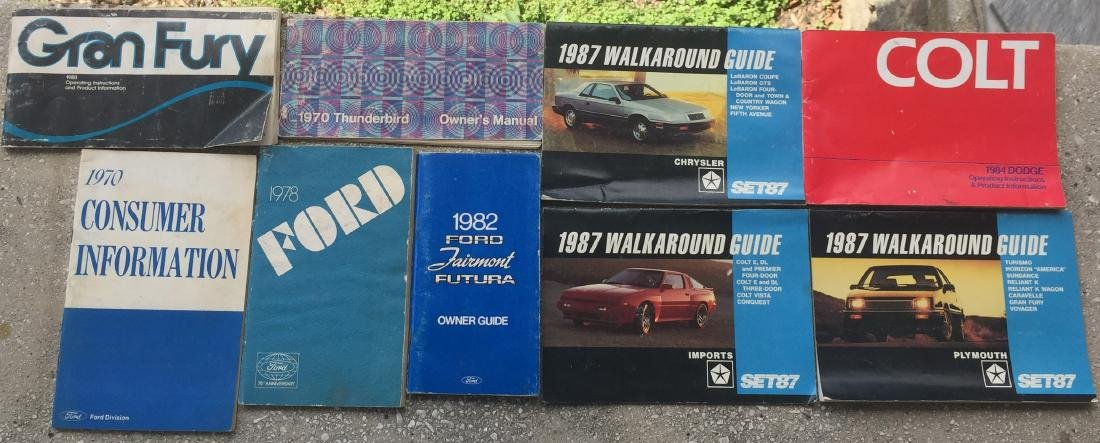 LARGE SELECTION OF 1970'S-80'S CAR MANUALS & BROCHURES - 2