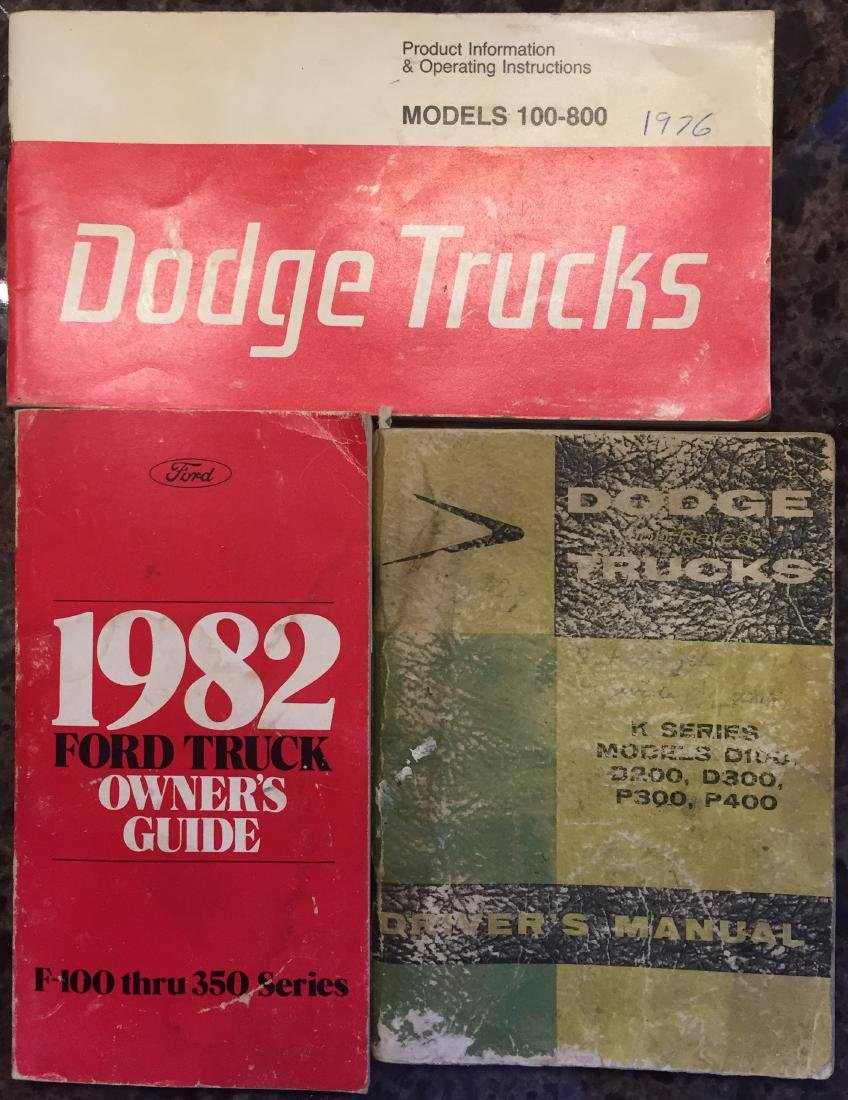 SELECTION OF TRUCK MANUALS  & OWNER'S GUIDES