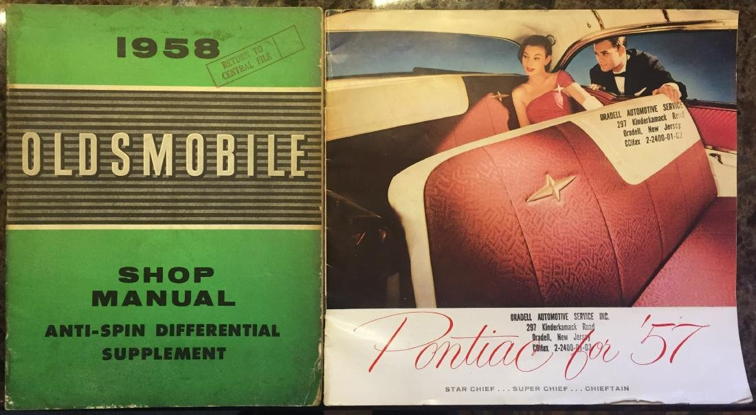 (5) 1950'S AUTOMOTIVE BROCHURES and BOOKLETS
