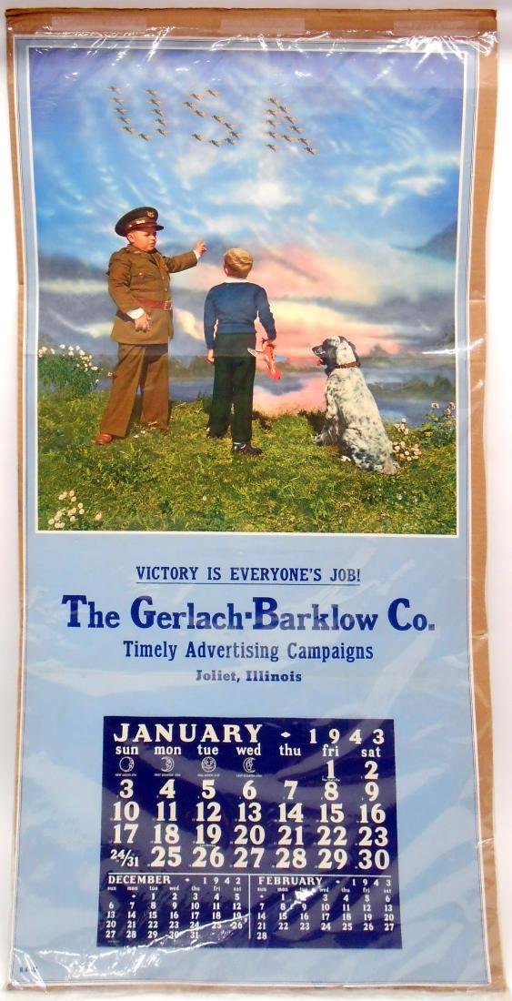 (4) 1940'S ADVERTISING CALENDARS with DOGS