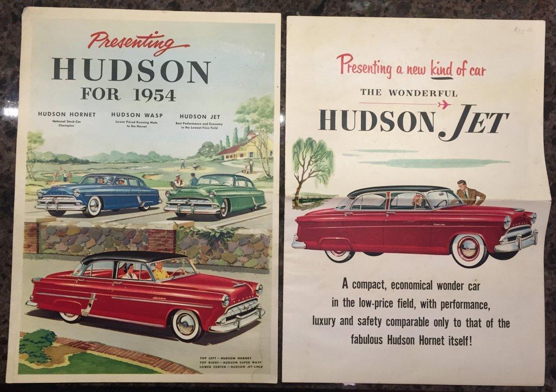 (4) MOSTLY 1950'S HUDSON BROCHURES