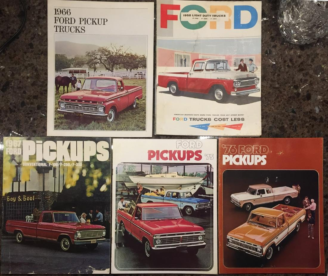 ASSORTED PICK-UP TRUCK BROCHURES (7)