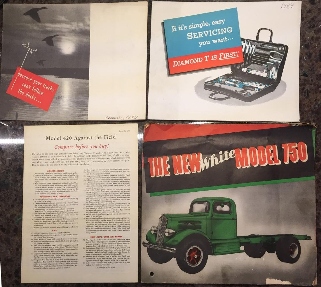 ASSORTED HEAVY DUTY TRUCK BROCHURES (12)