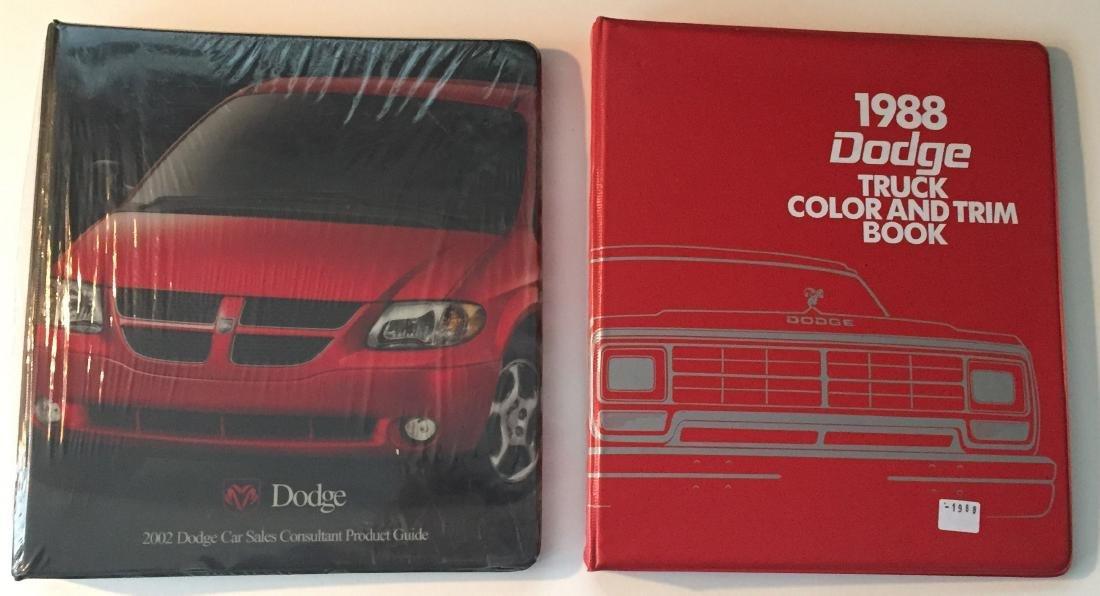 (4) DODGE & PLYMOUTH DEALER COLOR & TRIM BOOKS - MOPAR