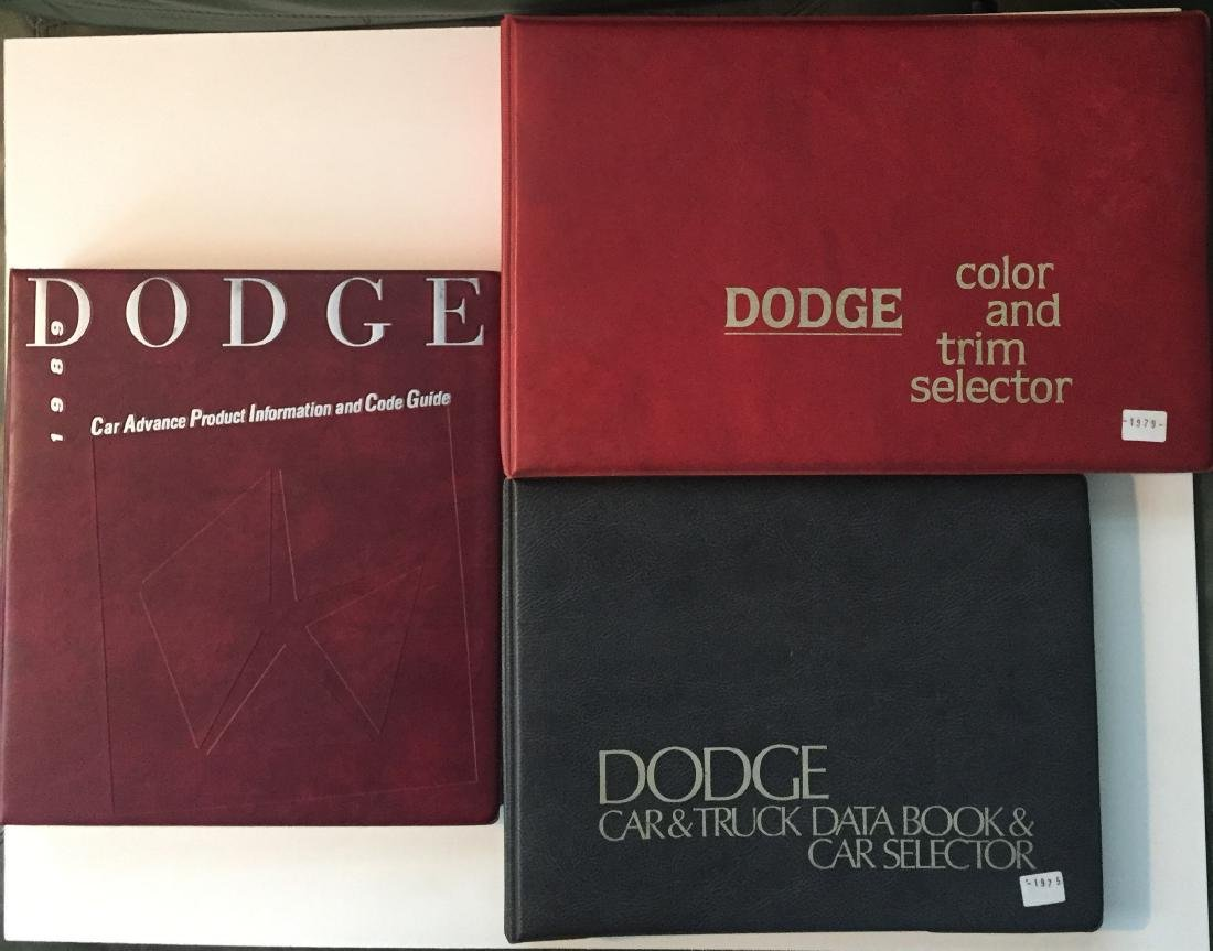 (3) DODGE DEALERSHIP TRIM & PRODUCT GUIDES - MOPAR