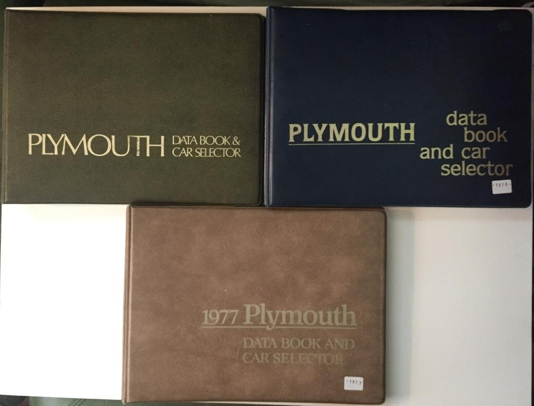 (3) PLYMOUTH DEALERSHIP DATA BOOKS, 1970'S - MOPAR