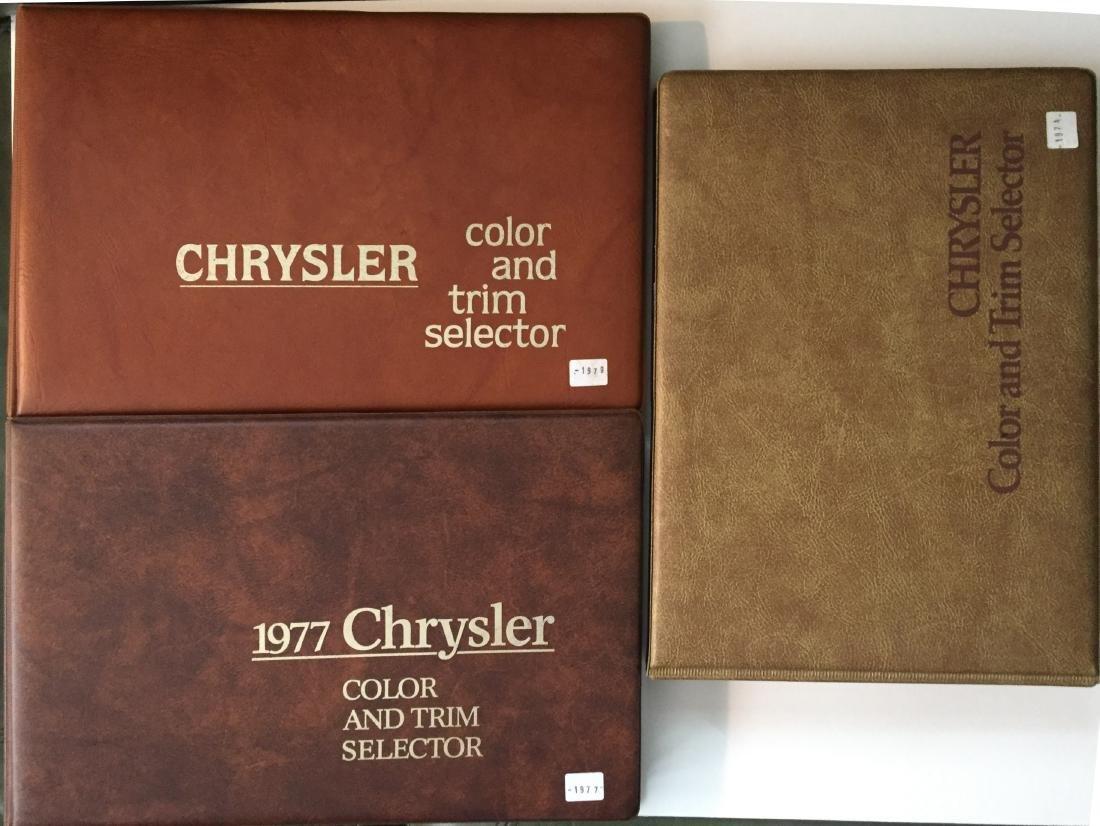 (3) CHRYSLER COLOR AD TRIM SELECTOR DEALER BOOKS
