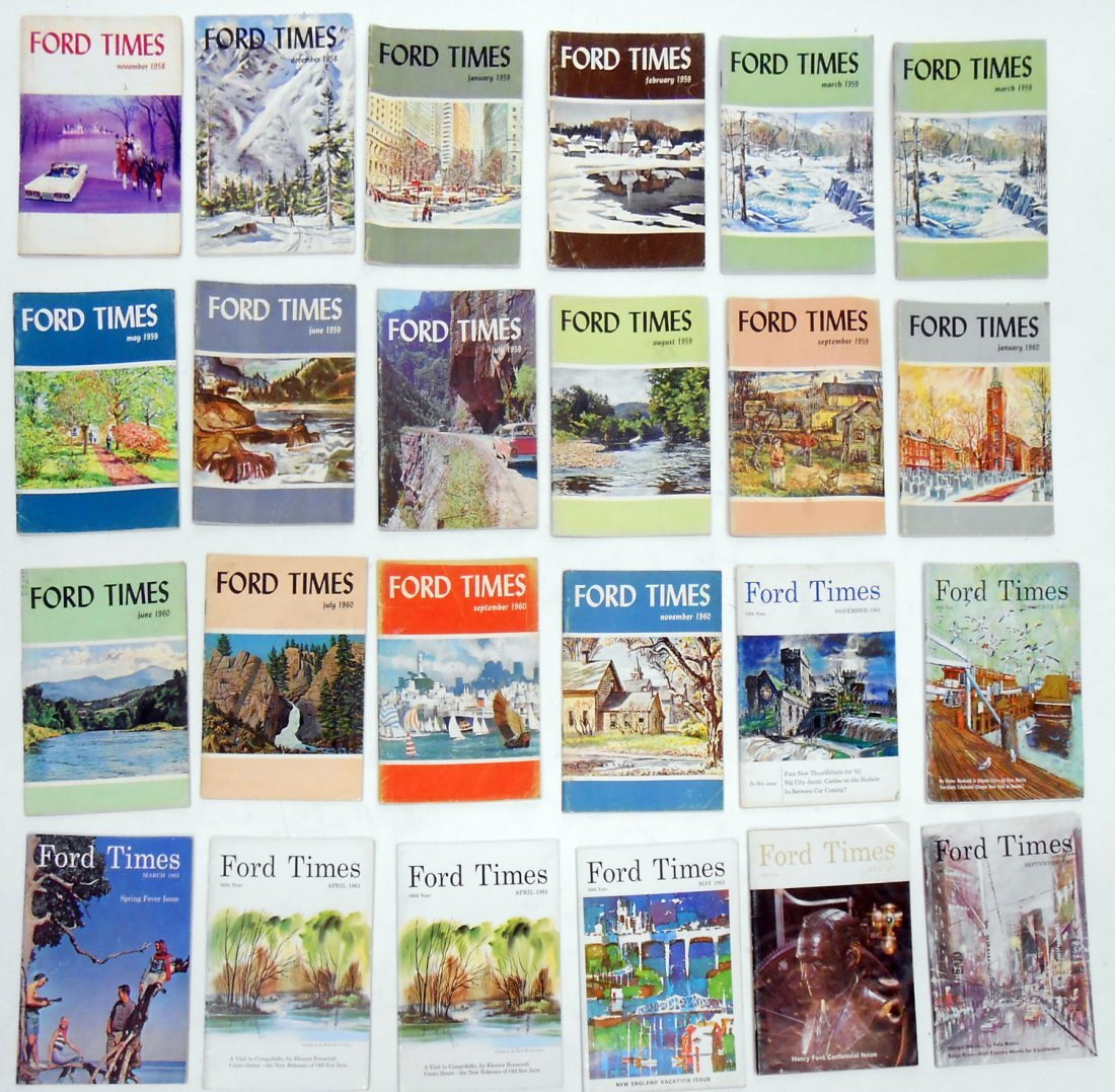LARGE LOT FORD TIMES MAGAZINES, 1950'S-60'S, 80'S & 90'