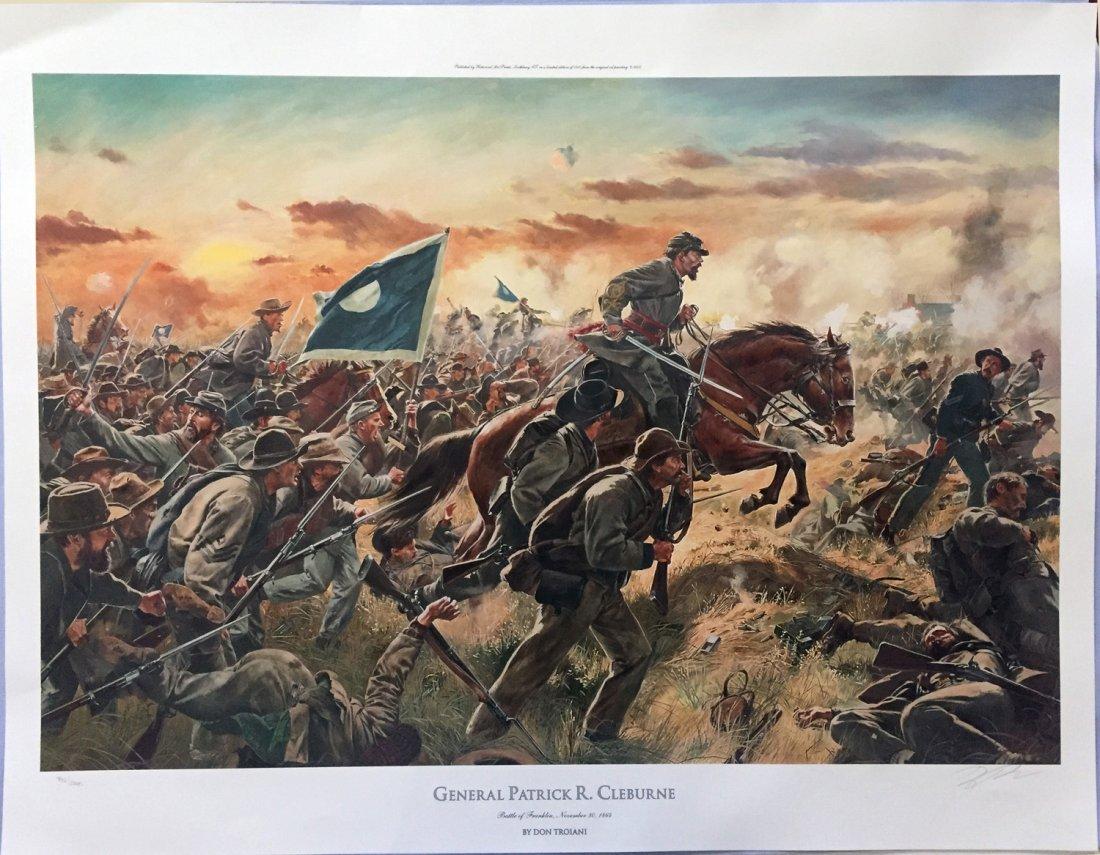 SIGNED FOLIO-SIZE CIVIL WAR THEME PRINTS (6)