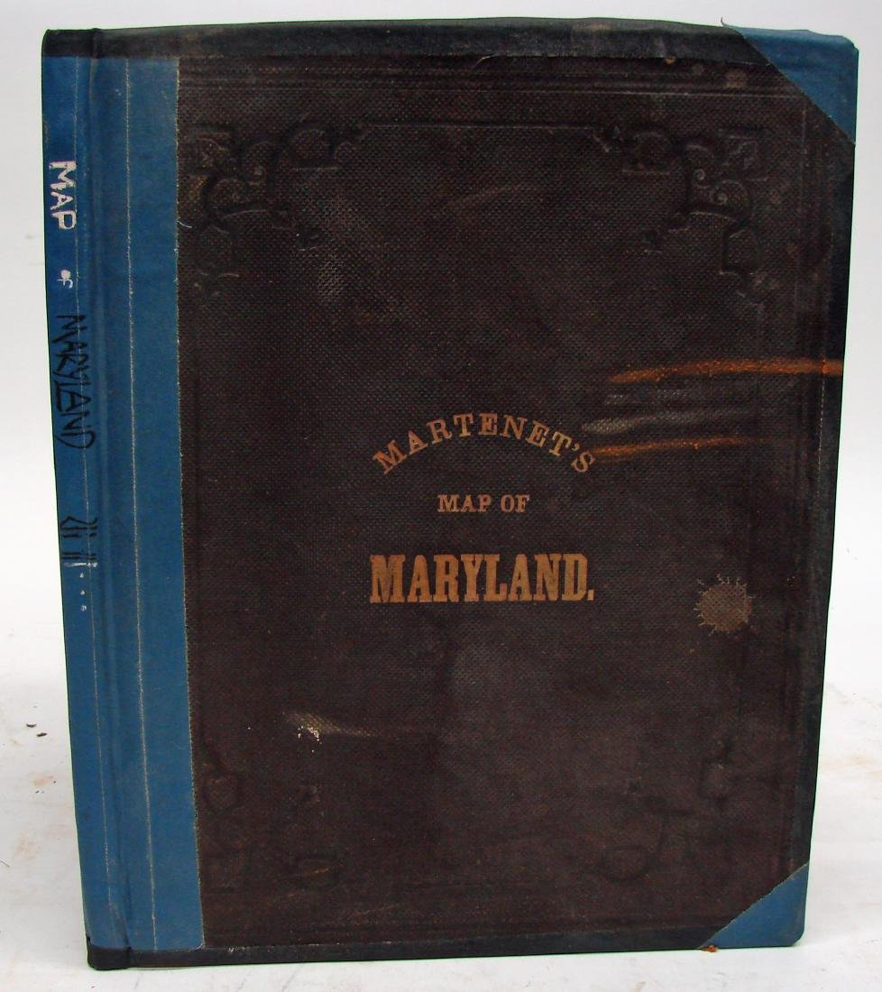 MARTINET'S MAP OF MARYLAND 1866
