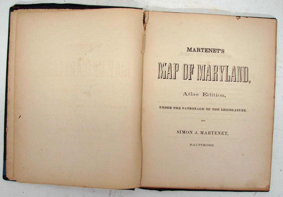 MARTINET'S MAP OF MARYLAND 1866 - 2