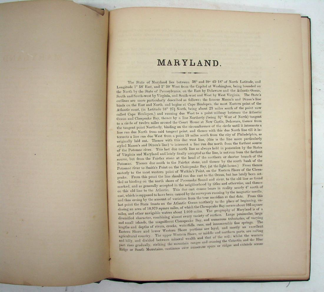 MARTINET'S MAP OF MARYLAND 1866 - 4