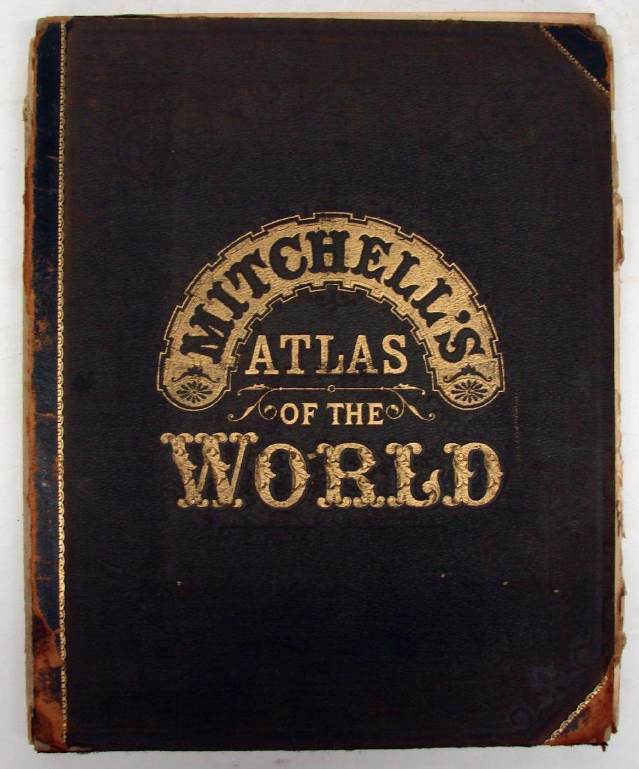 MITCHELL'S ATLAS OF THE WORLD 1883