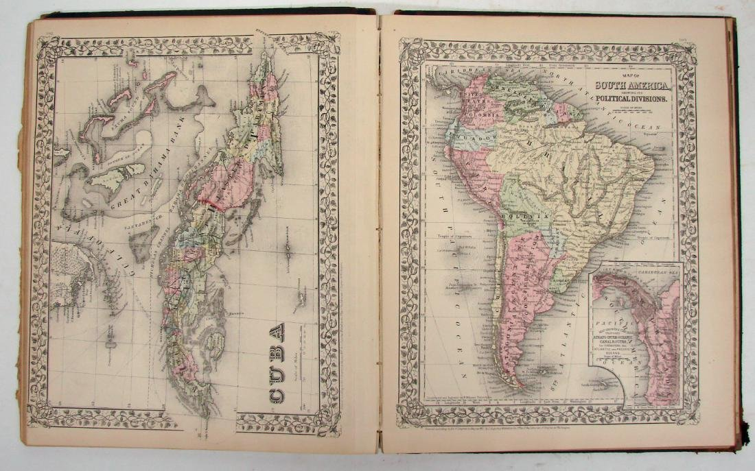 MITCHELL'S ATLAS OF THE WORLD 1883 - 4