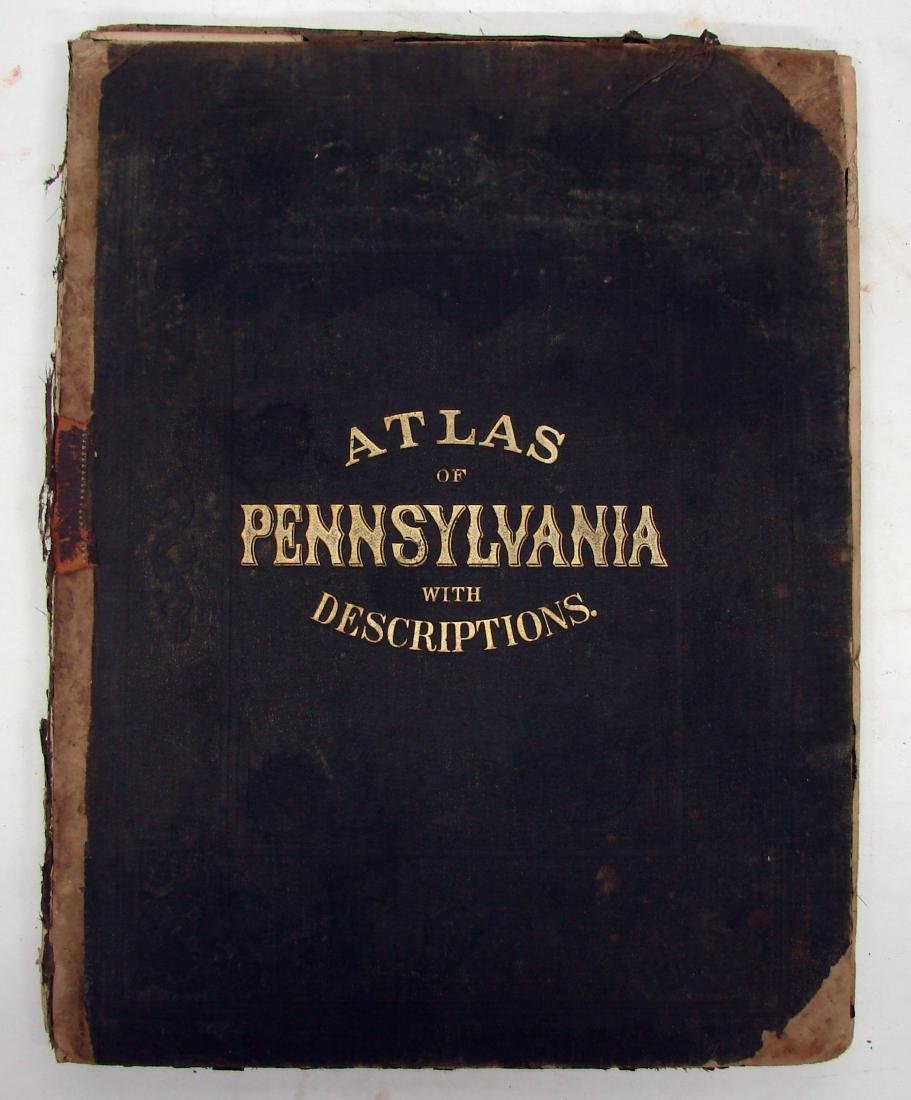 ATLAS OF PENNSYLVANIA - WALLING, 1872