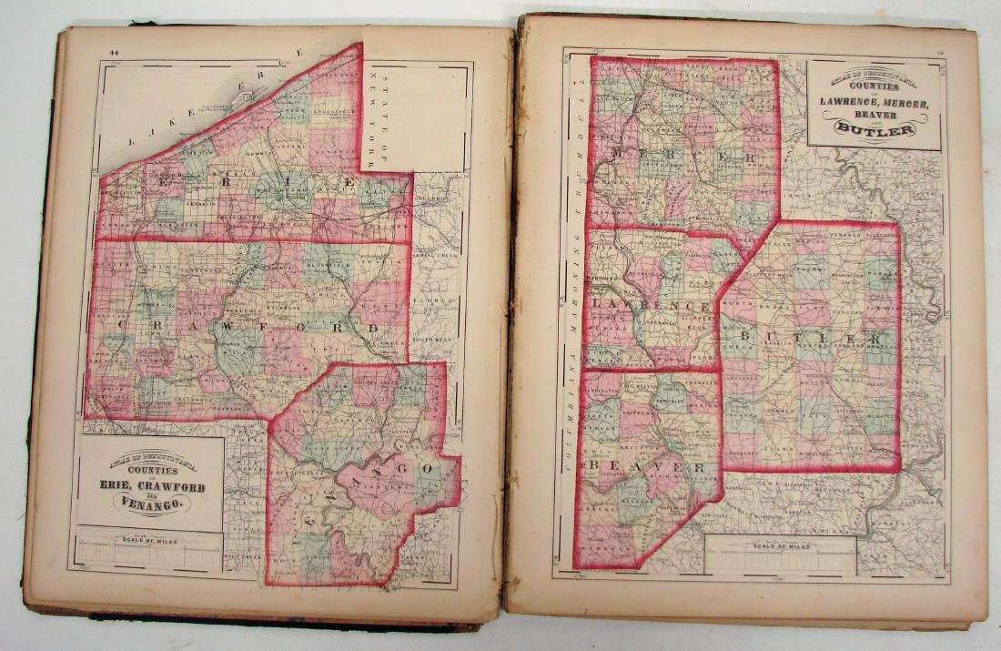 ATLAS OF PENNSYLVANIA - WALLING, 1872 - 3