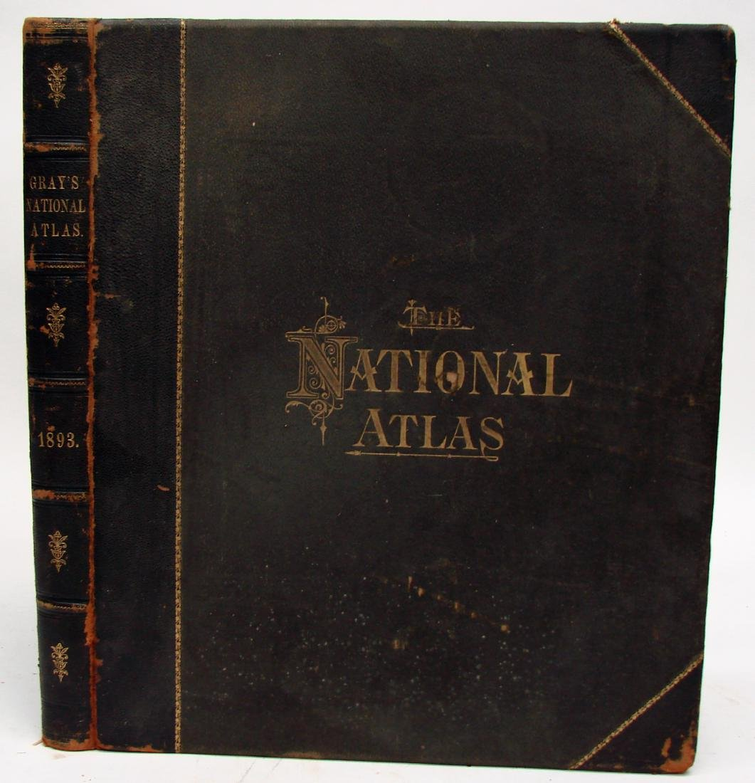 NATIONAL ATLAS - PHILADELPHIA W. W. GRAY & SON, 1893