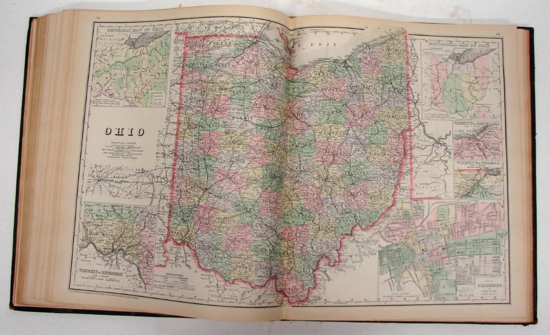 NATIONAL ATLAS - PHILADELPHIA W. W. GRAY & SON, 1893 - 4