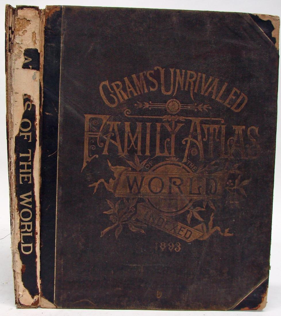 CRAM'S UNRIVALED FAMILY ATLAS OF THE WORLD, 1893