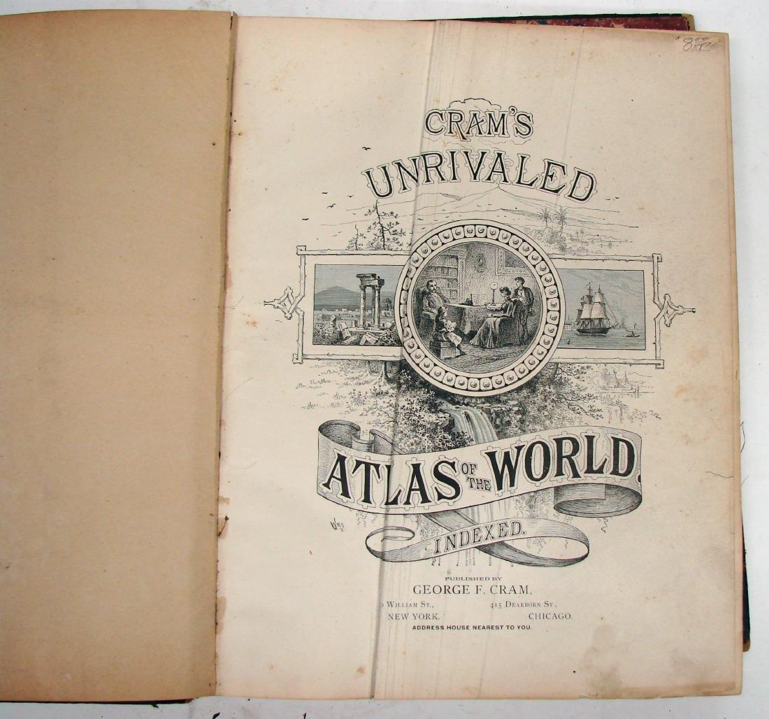 CRAM'S UNRIVALED FAMILY ATLAS OF THE WORLD, 1893 - 2