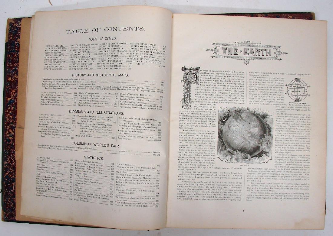 CRAM'S UNRIVALED FAMILY ATLAS OF THE WORLD, 1893 - 3