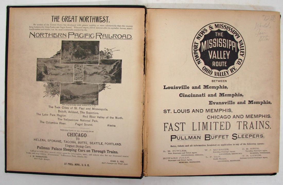 THE COLUMBIAN WORLD'S FAIR ATLAS, 1893 - 2