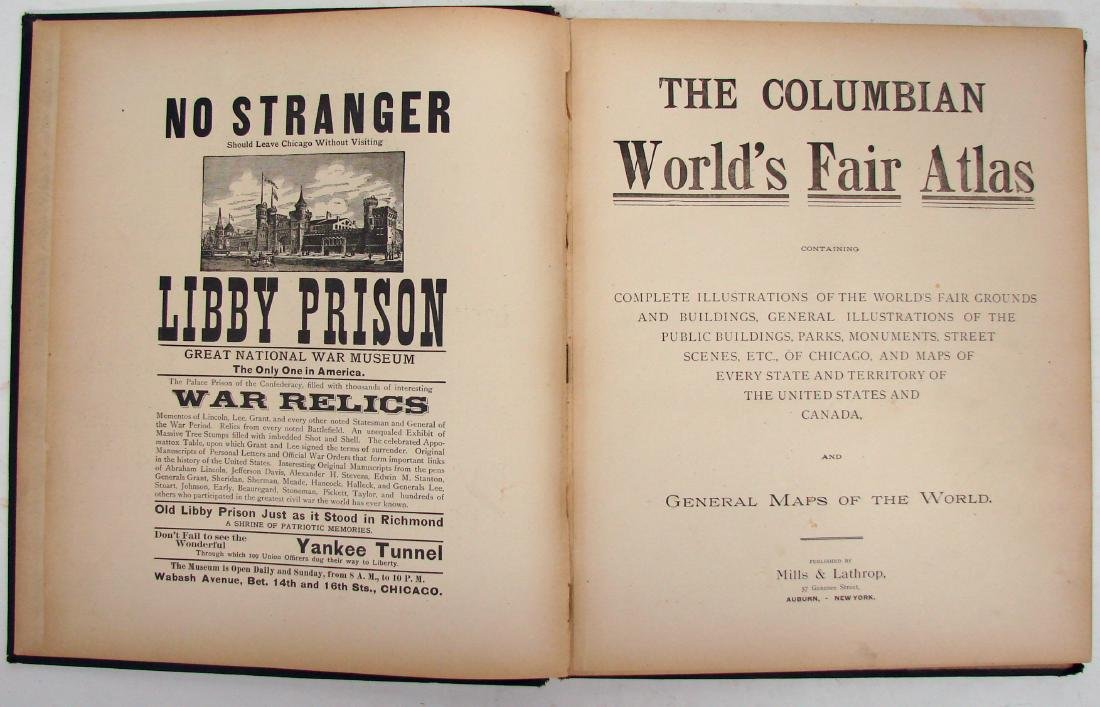 THE COLUMBIAN WORLD'S FAIR ATLAS, 1893 - 3