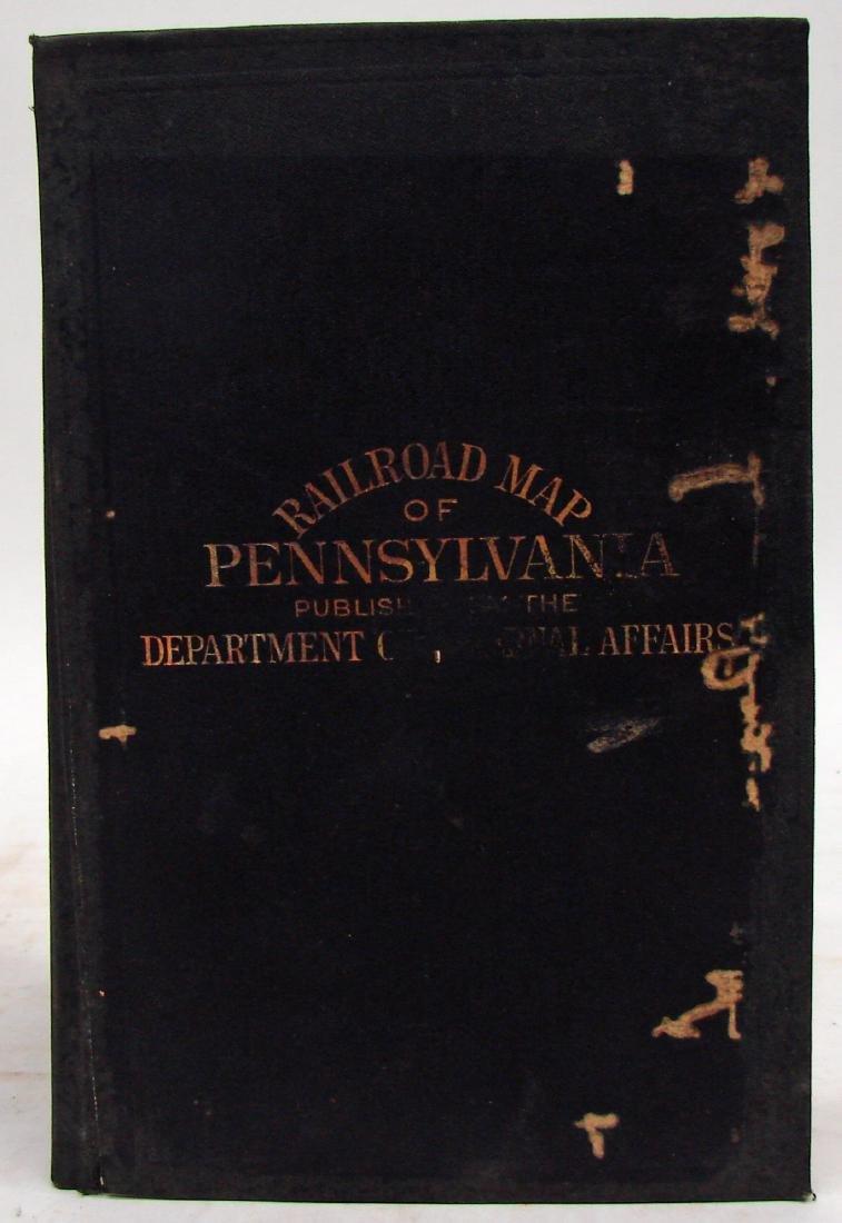 RAILROAD MAP OF PENNSYLVANIA, 1904