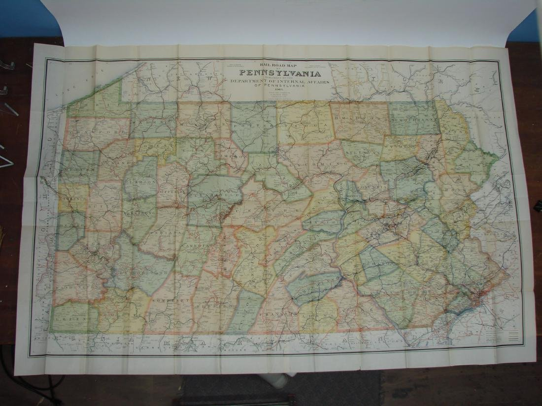 RAILROAD MAP OF PENNSYLVANIA, 1904 - 2