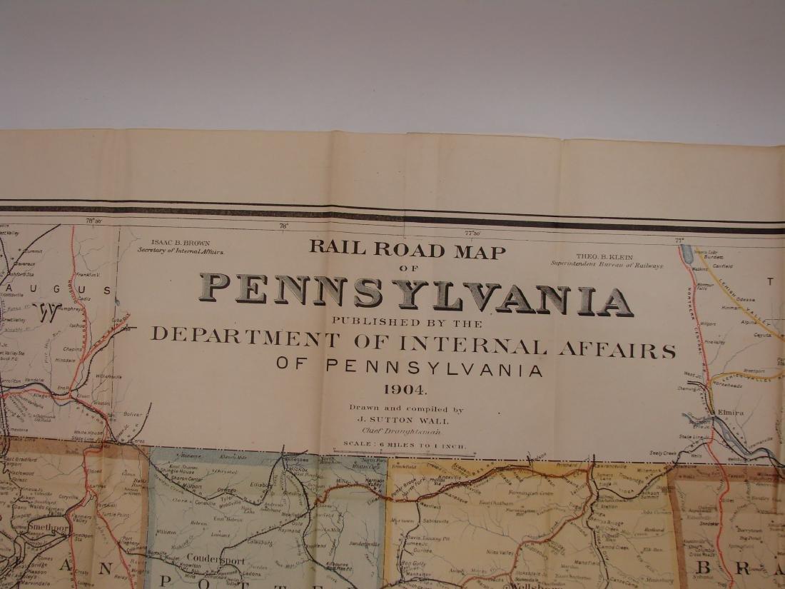 RAILROAD MAP OF PENNSYLVANIA, 1904 - 4