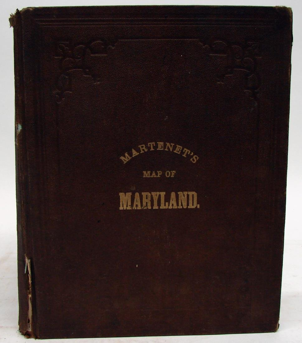 MARTINET'S MAP OF MARYLAND-ATLAS EDITION 1866