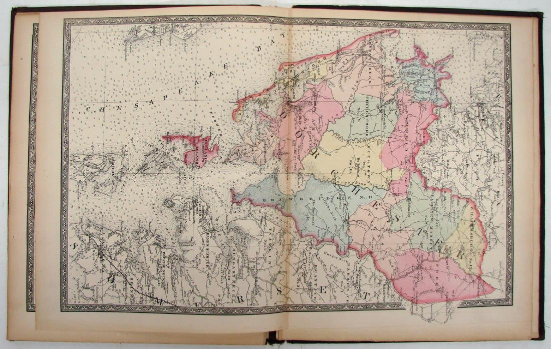MARTINET'S MAP OF MARYLAND-ATLAS EDITION 1866 - 3