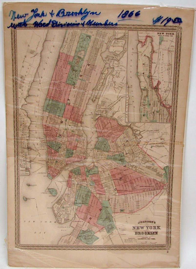 (3) NEW JERSEY MAPS & (1) NEW YORK MAP, LATE 1800'S - 4
