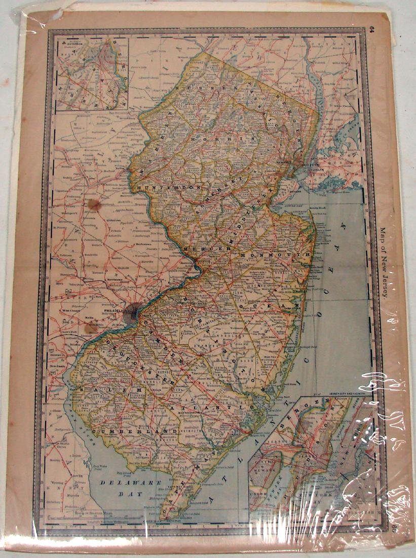 (2) DELEWARE MAPS & (1) NEW JERSEY MAP, C. 1860'S