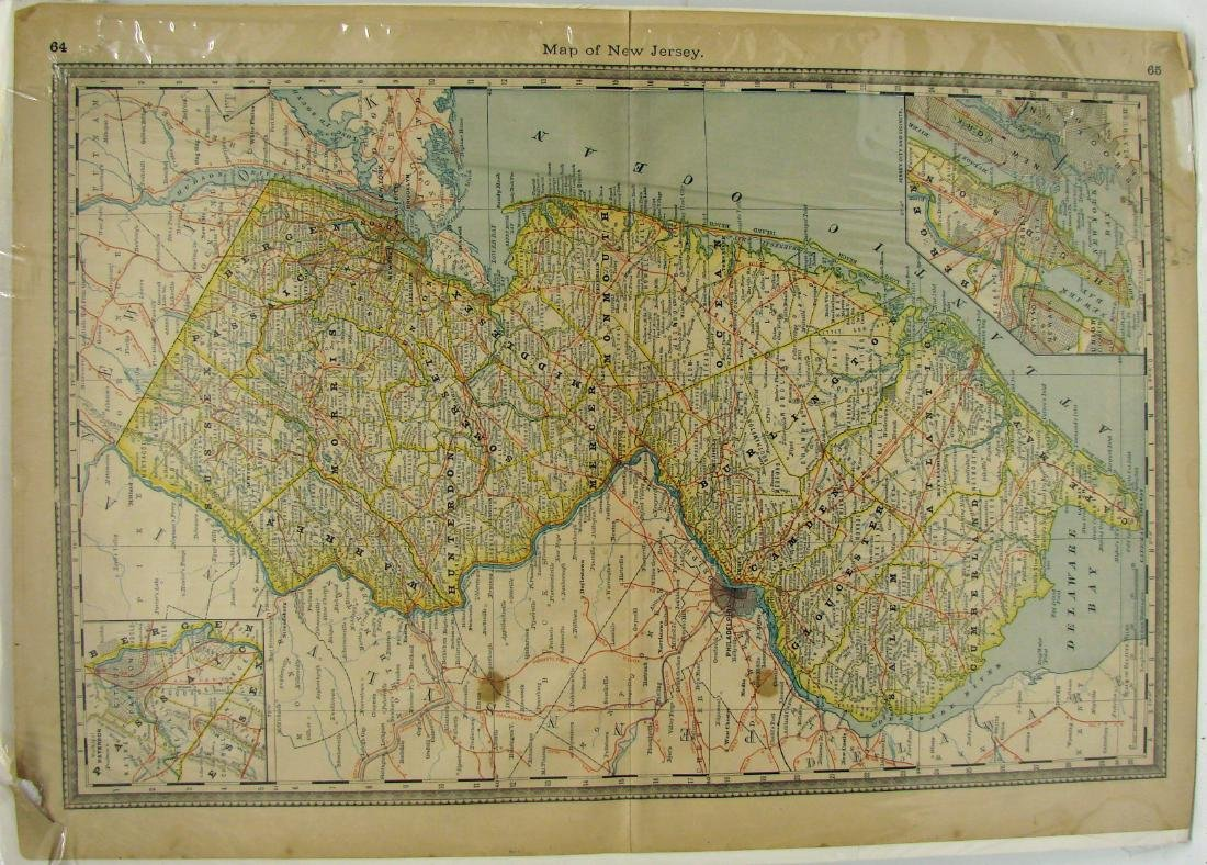 (2) DELEWARE MAPS & (1) NEW JERSEY MAP, C. 1860'S - 2