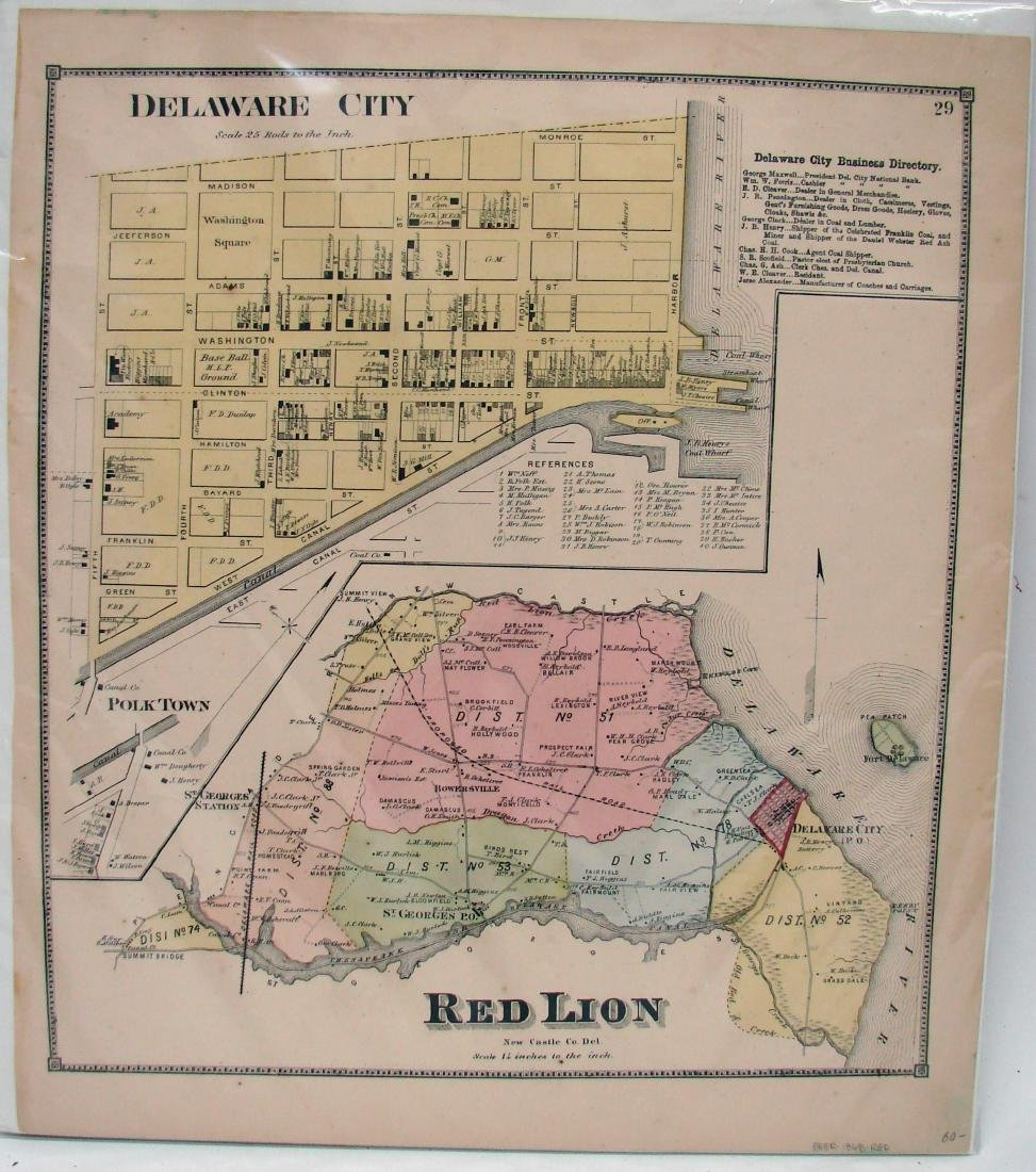 (2) DELEWARE MAPS & (1) NEW JERSEY MAP, C. 1860'S - 3