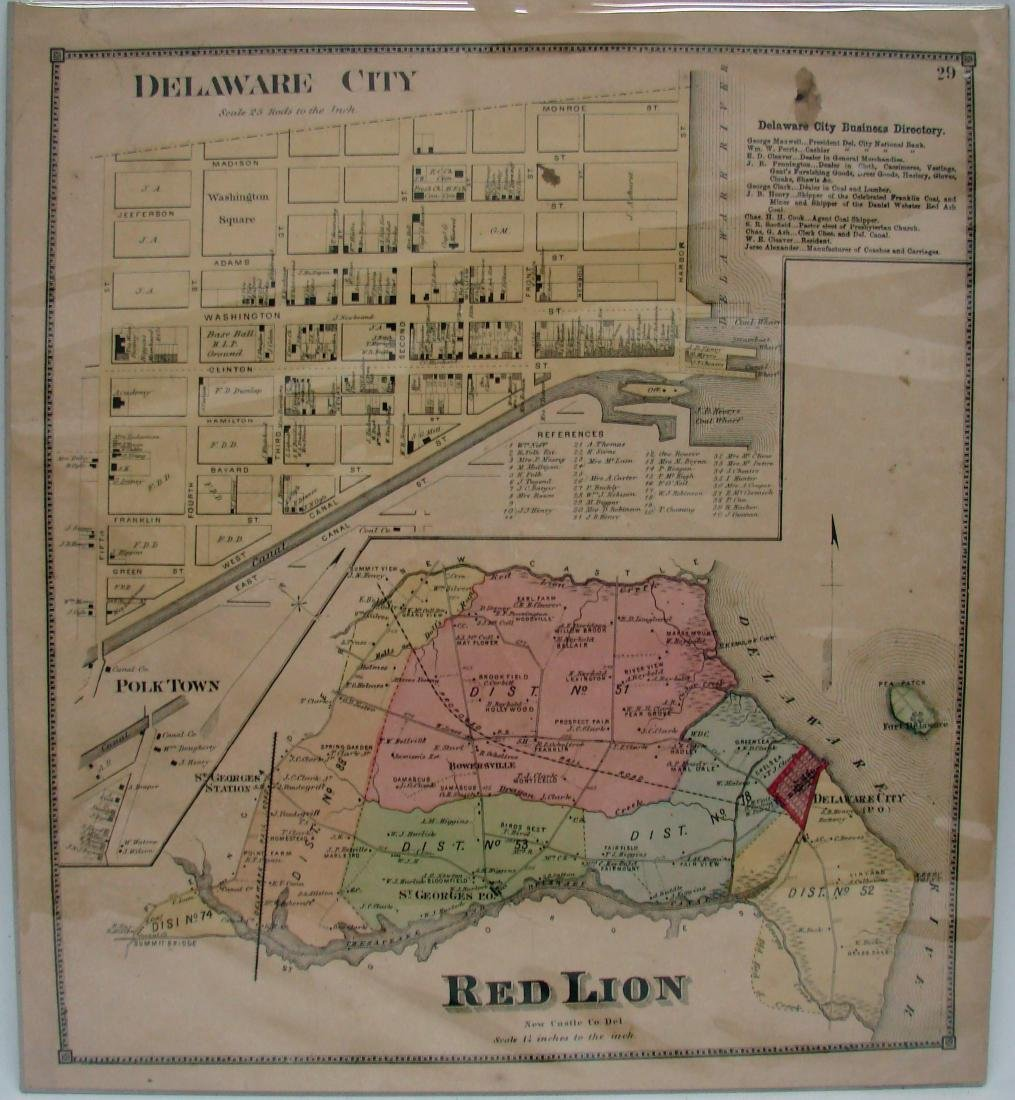 (2) DELEWARE MAPS & (1) NEW JERSEY MAP, C. 1860'S - 4